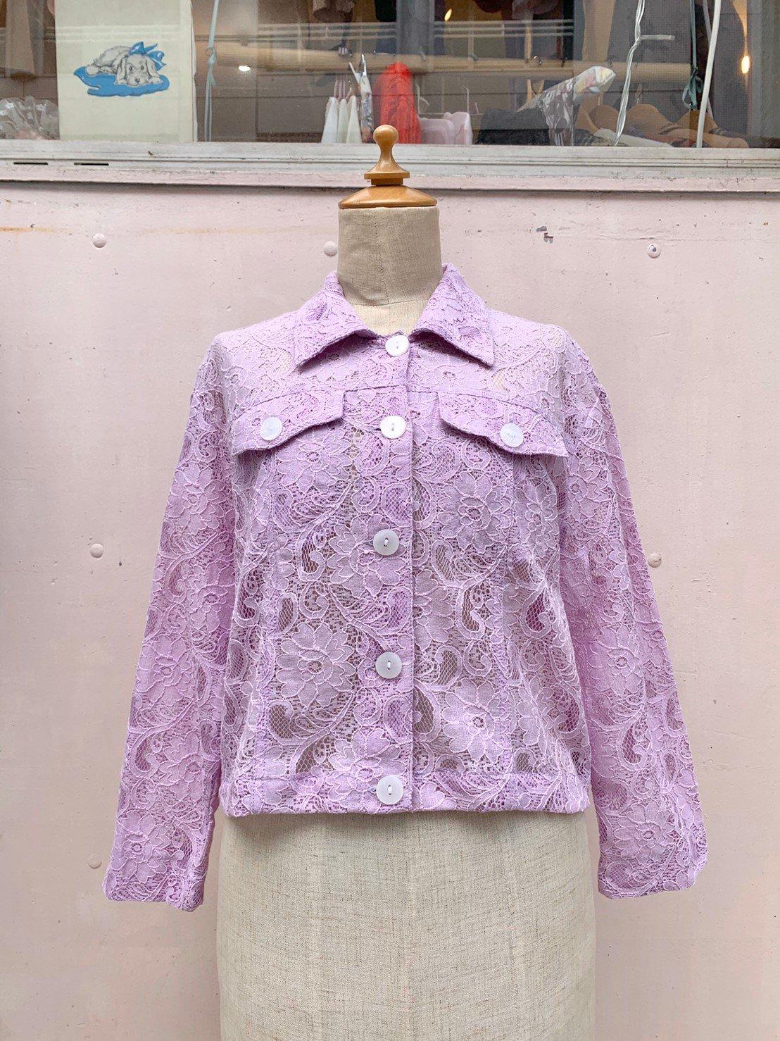 15.lavender lace jacket