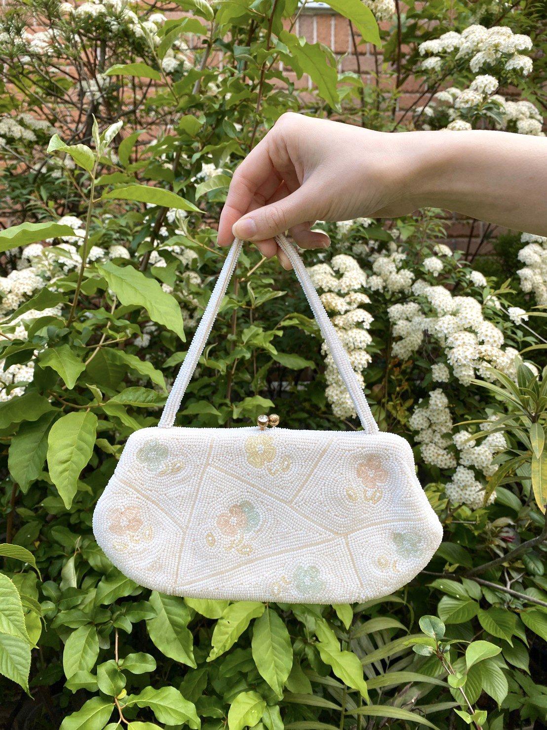 white bijou bag