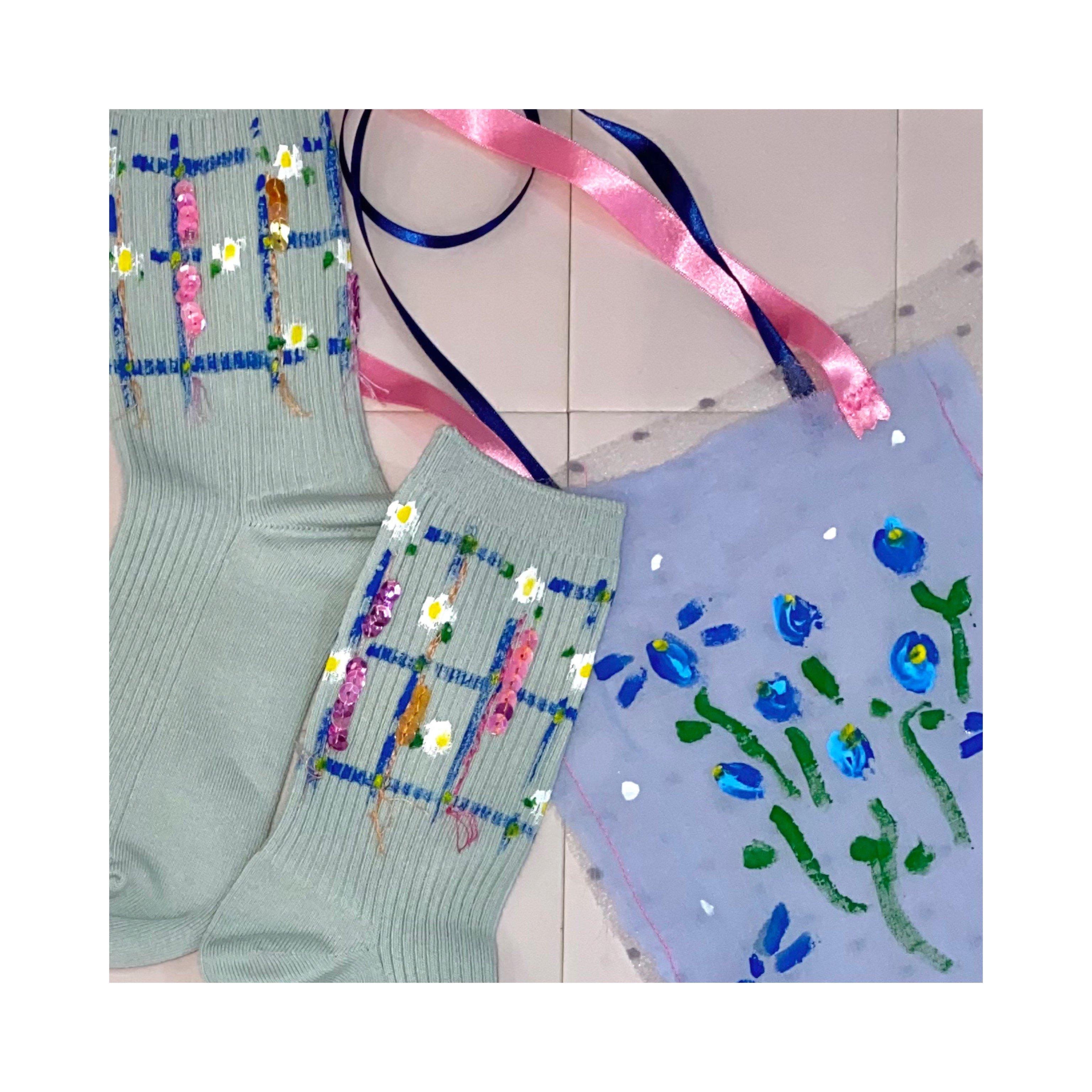 【hana】socks -daisy-