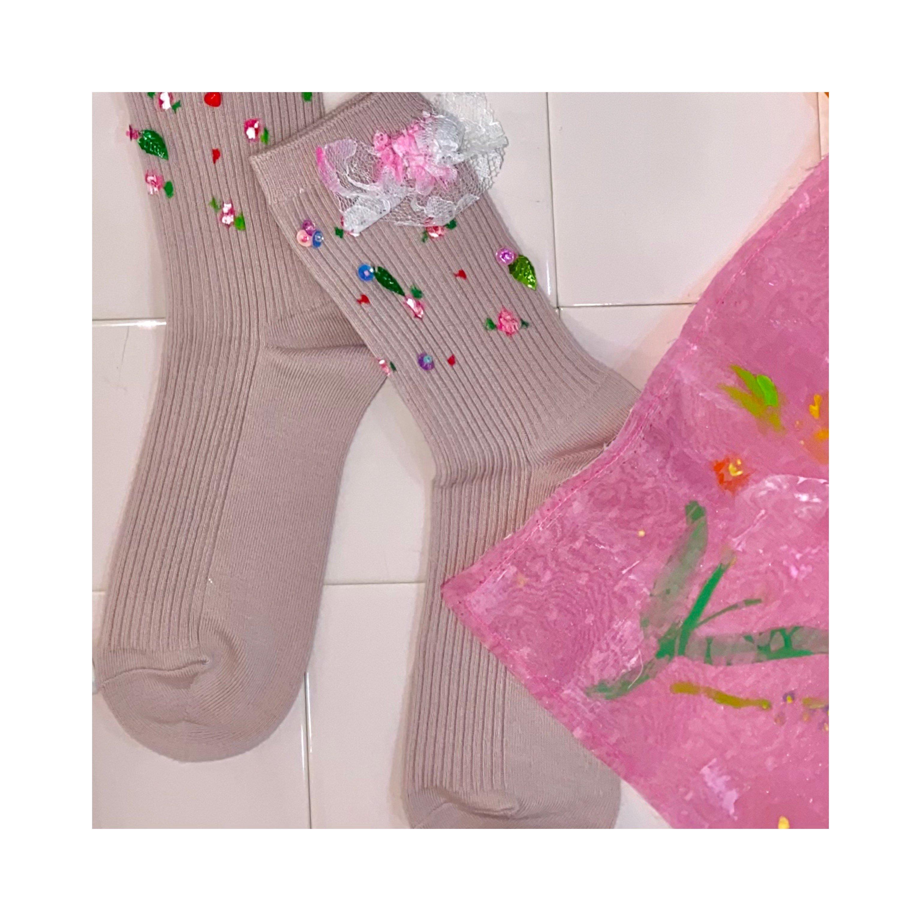 【hana】socks -mini rose-