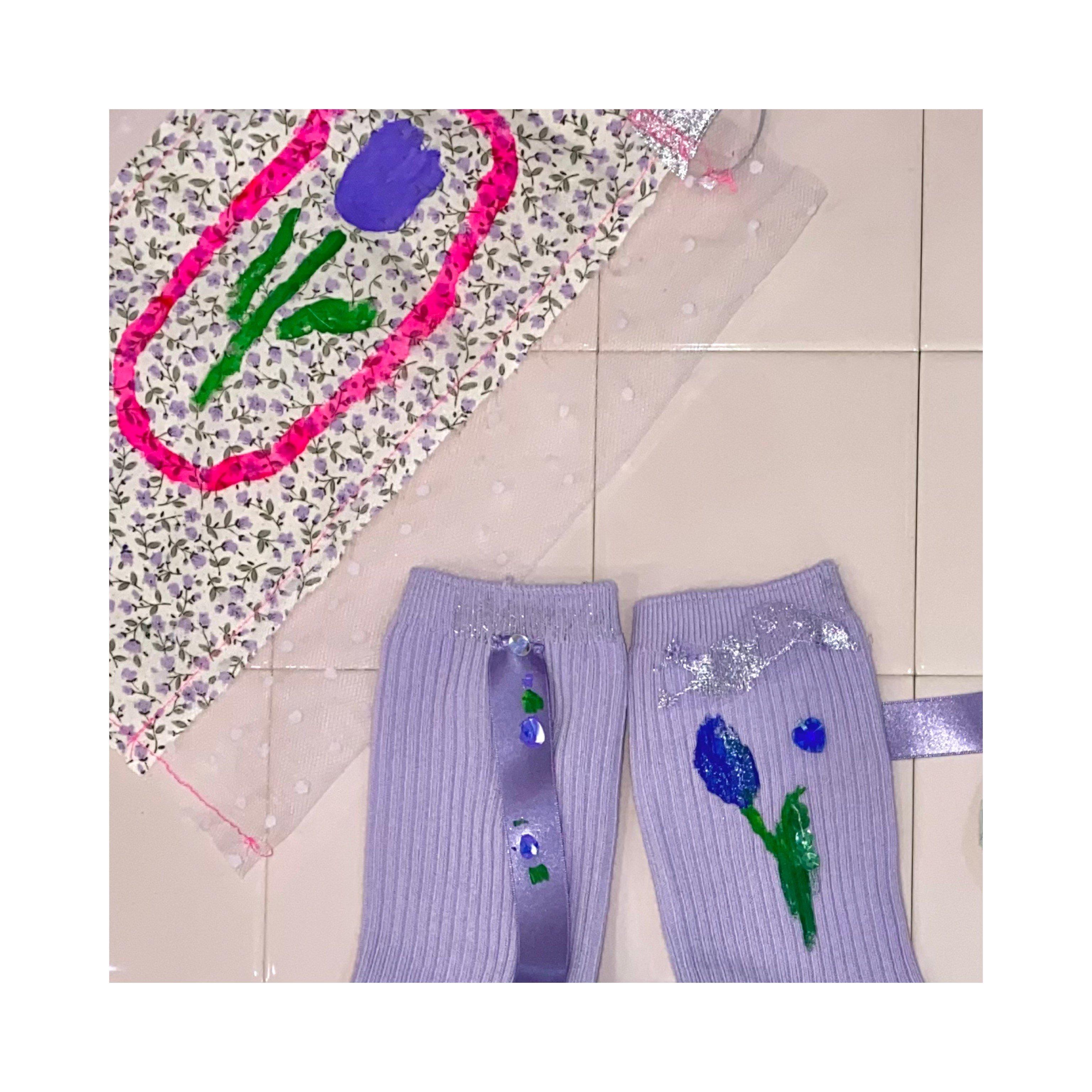 【hana】socks -lilac-