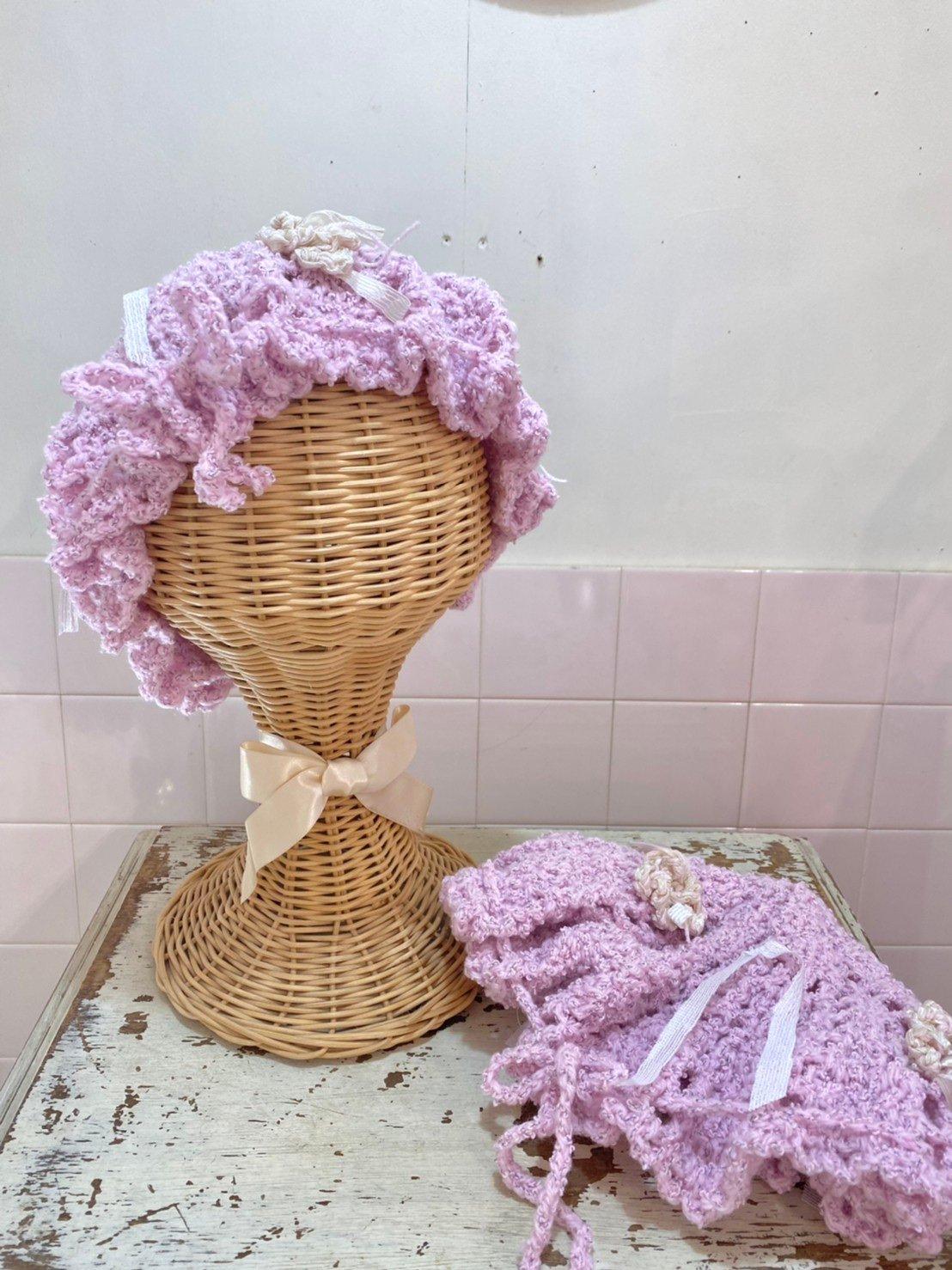 iknowcatamari 手編みニット帽子