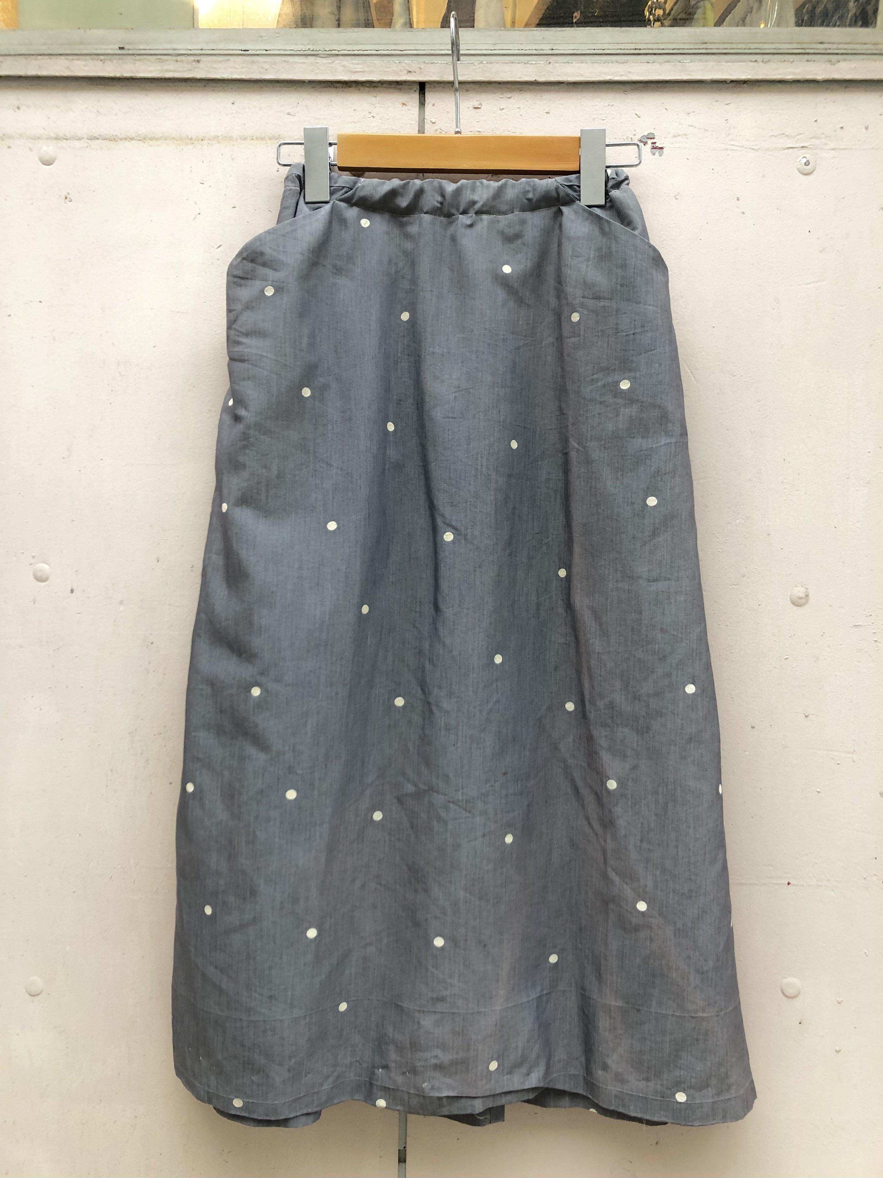 chambray dot tight skirt