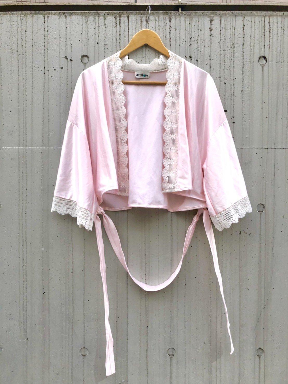 pink satin short gown