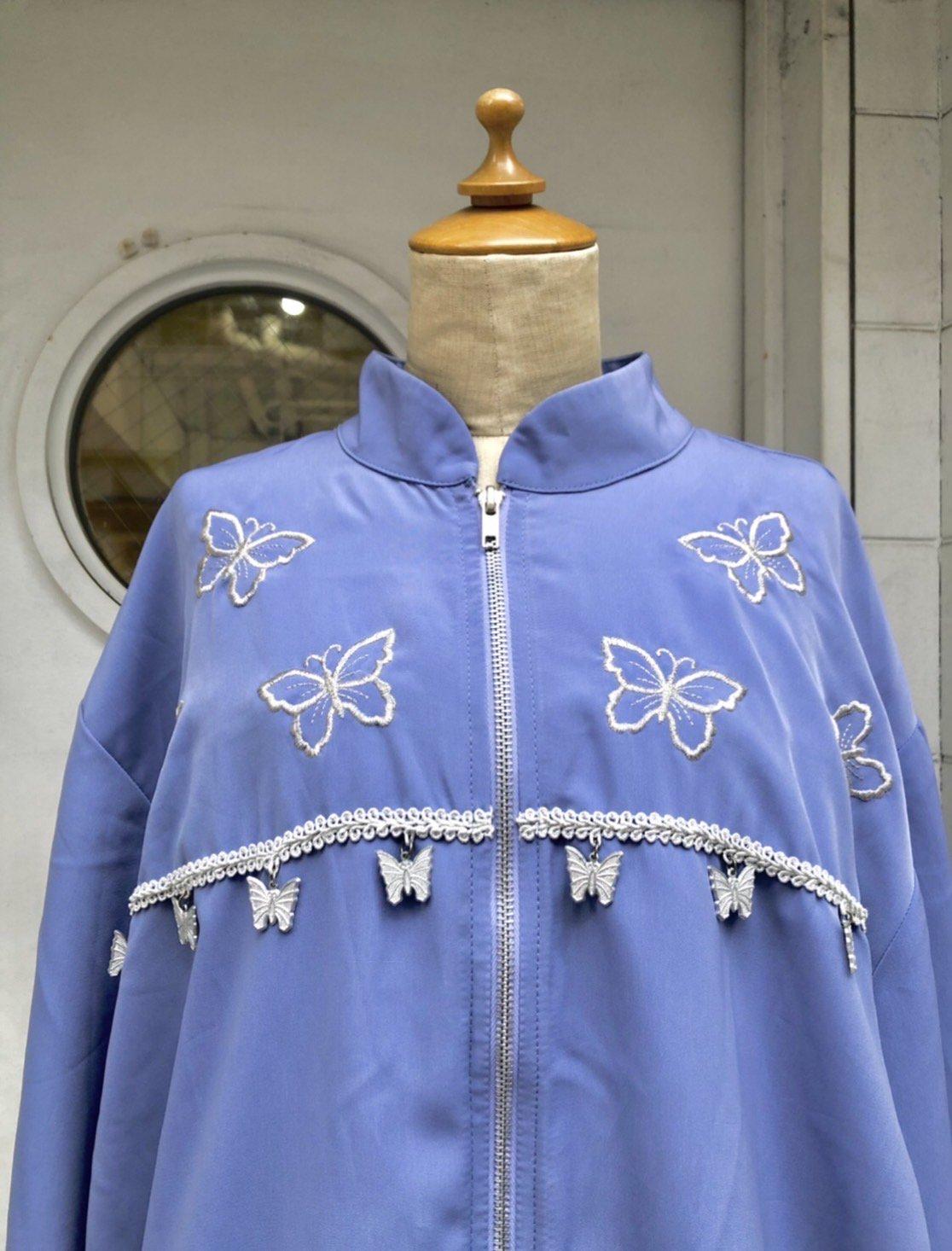butterfly charm blouson