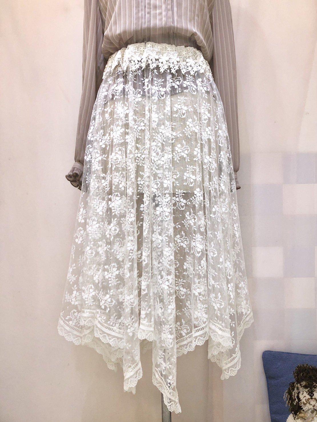 lace handkerchief skirt