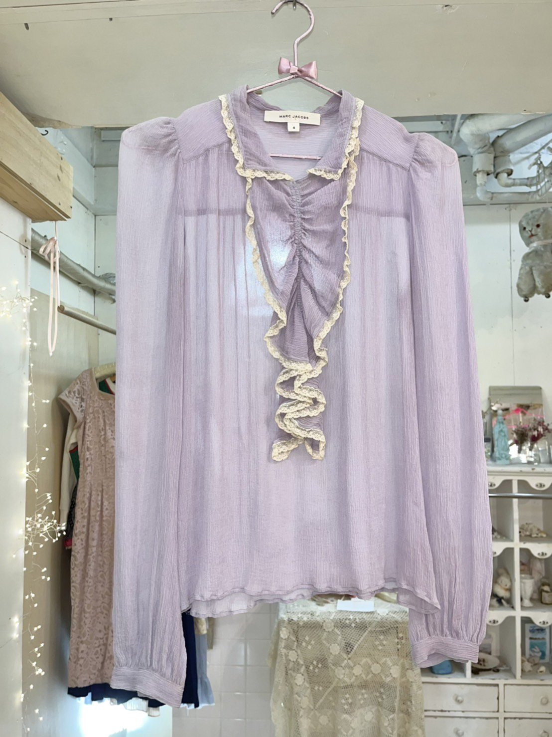 MARC JACOBS frill blouse
