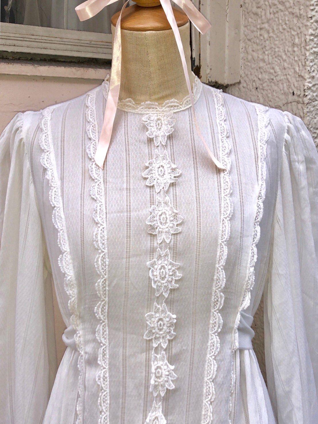 romantic lace long one-piece