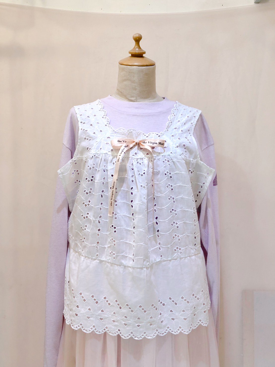 cutwork lace tops