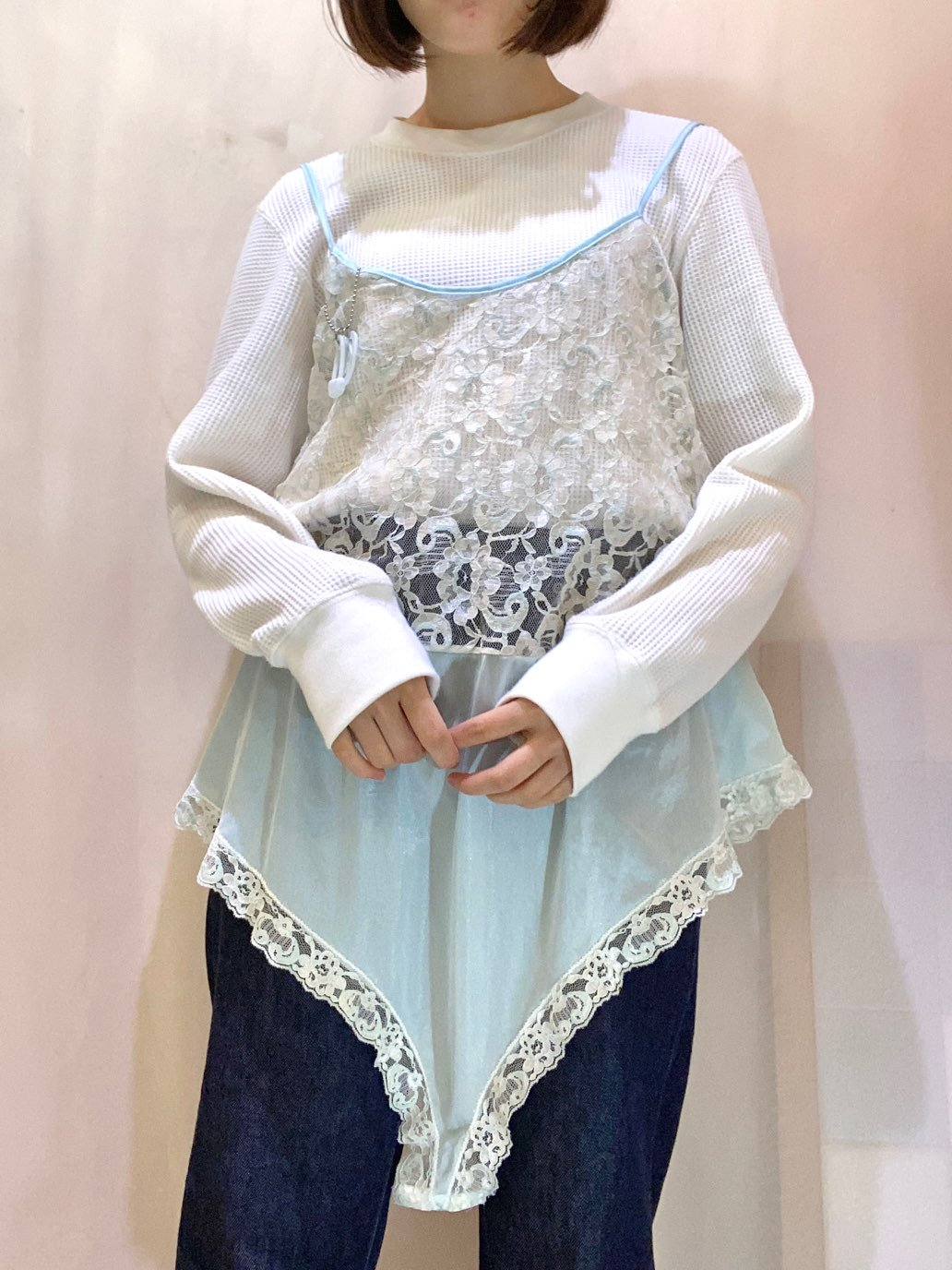 baby blue lace rompers