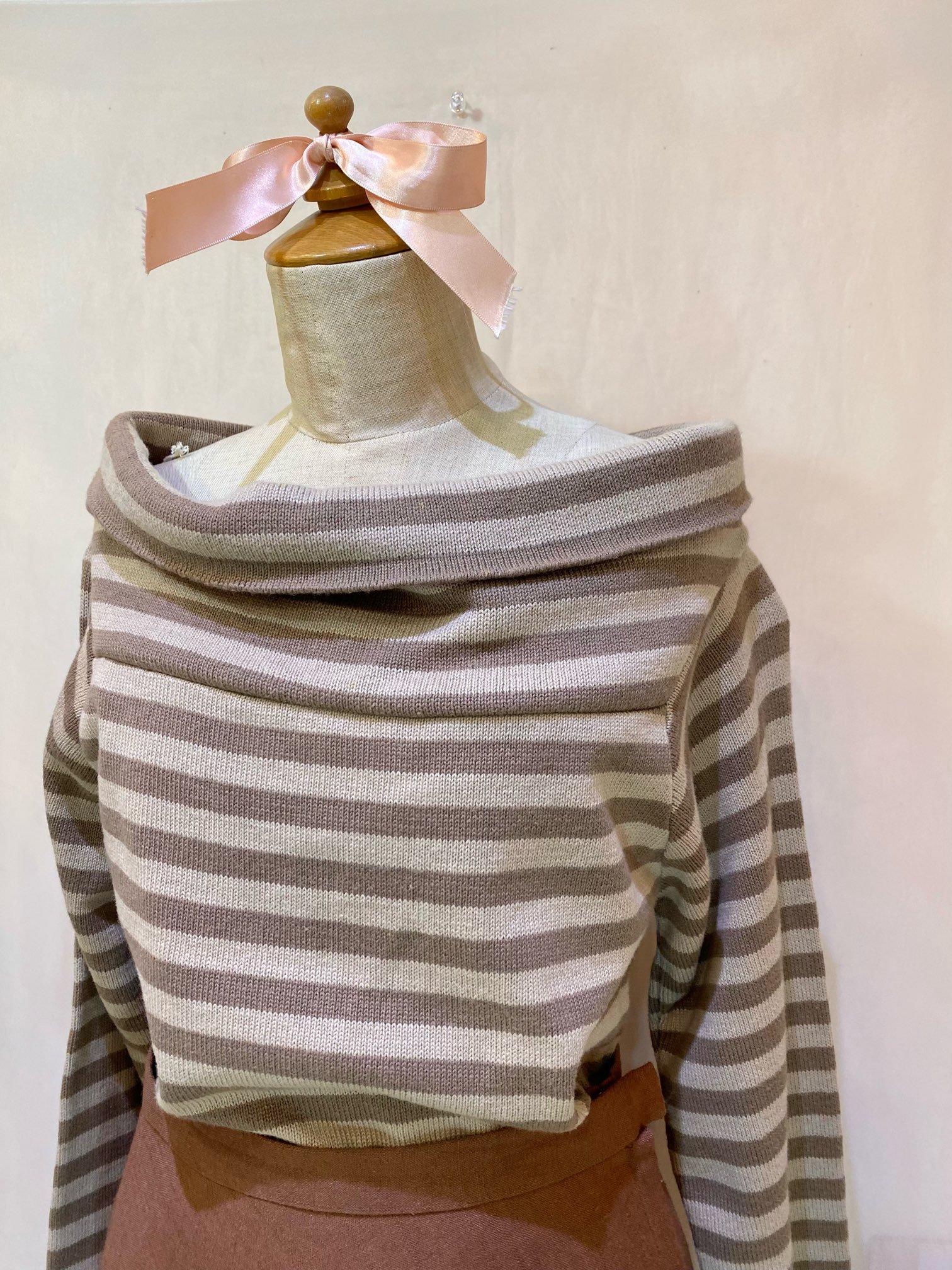 border off shoulder knit