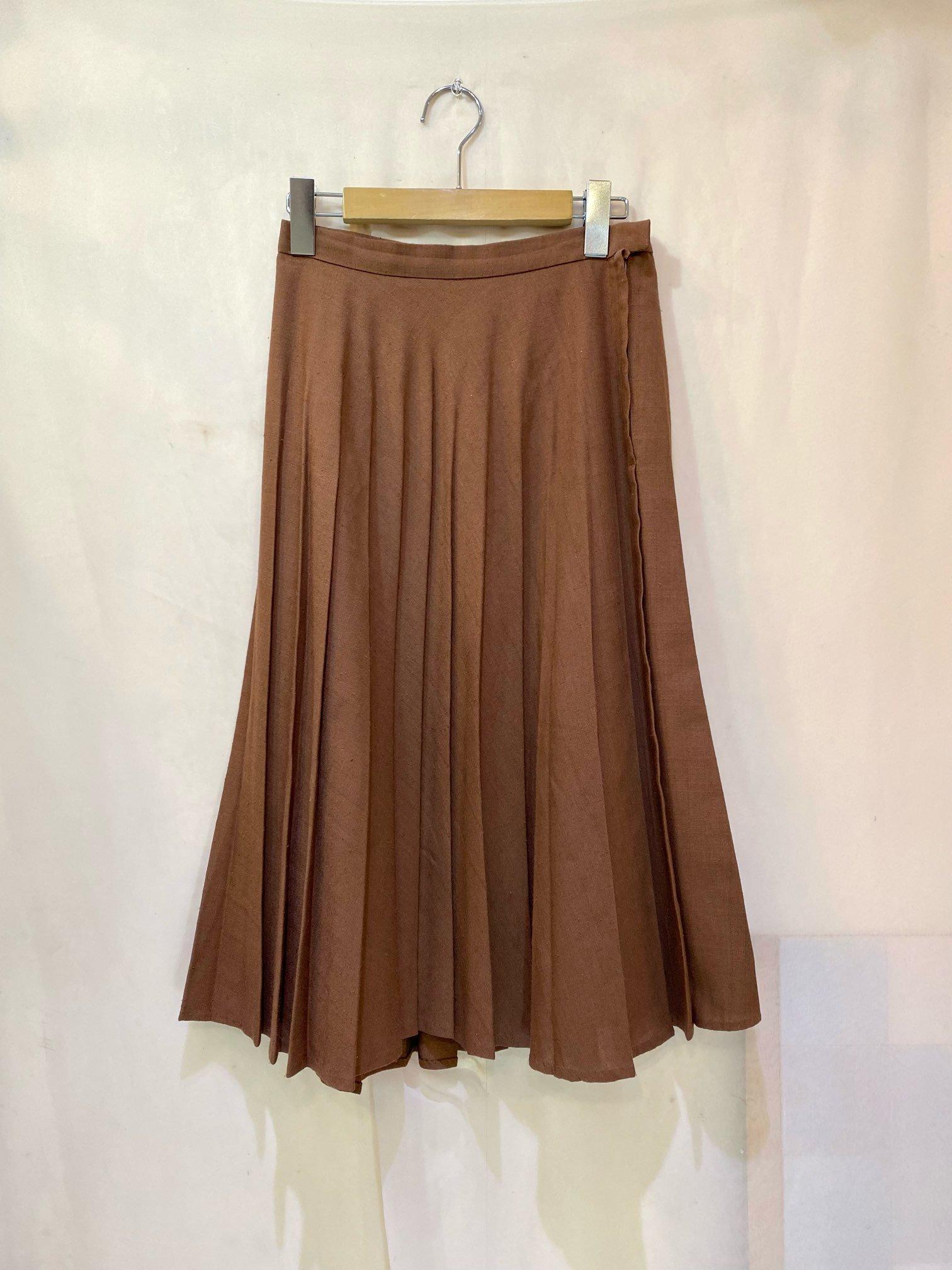 chocolate pleats skirt