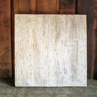 古材天板 正方テーブル用  / ホワイト アンティークペイント- 800 【SDGs】 送料無料 (IFN-84)