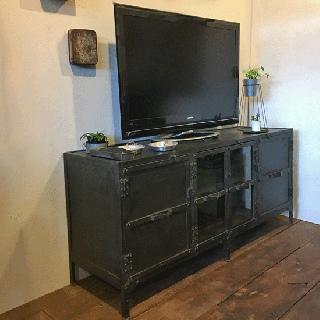 TV キャビネット アイアン リビングボード 1540mm幅(UBX-105)