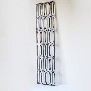 【受注生産品/現在在庫あり】アイアン製 窓格子 ウィンドウグリル 280x1200mm パターン06 (IGR-06)