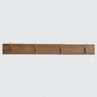 ウォールハンガー B / 壁付け コート掛け /チーク 真鍮 -800mm(OIR-039)