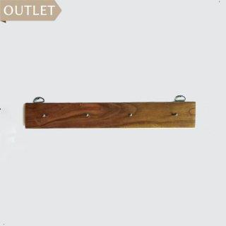【OUTLET】ウォールハンガー 4フック / チーク アイアン -400mm (OIR-020)