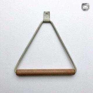 木とアイアンのタオルハンガー アイボリーホワイト 三角 -150mm (OIR-049C) 《メール便可》