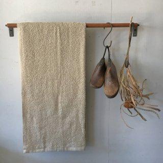 木とアイアンのタオルバー(L) - 500mm/ 木 + 鉄 (OIR-076)