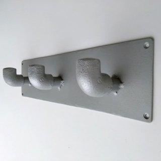 アイアン パイプ 3フックハンガー / インダストリアル 水道管 -365mm (PRT-329)