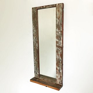 【MIRROR FAIR -10%OFF-】ミラー 壁掛け ドレッサー テーブル付 / ボート古材 320x720mm 【SDGs】/送料無料 (IMR-39)<img class='new_mark_img2' src='https://img.shop-pro.jp/img/new/icons20.gif' style='border:none;display:inline;margin:0px;padding:0px;width:auto;' />
