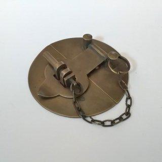 真鍮 ロック 円形留め金 ブラスパーツ -83mm (JB-498)