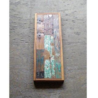 古材天板 / 壁面装飾 ボート古材 パッチワーク / 280x800 【SDGs】(IFN-52)