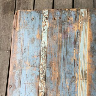 古材 x アイアン ヴィンテージ テーブル / デスク - BLUE / 1080mm 送料無料 【SDGs】(IFN-88-C)