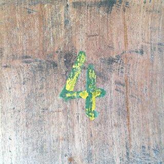 古材 チーク 壁板 装飾用-B ナンバー付 2190mm程度 (WD-102)