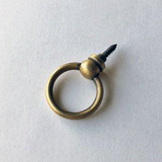 【新タイプ】つまみ 取っ手 真鍮 ブラス / ネジ式 リング 30mm (JB-004N) 《メール便選択可》