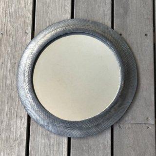 【再入荷】円形 壁掛けミラー / リサイクルタイヤ 直径41cm 【SDGs】(IMR-36N)