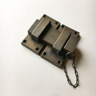 【限定品】真鍮 金具 ロック 錠 ブラスパーツ -95mm* (JB-039)