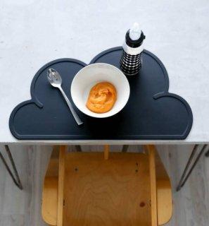 【KG DESIGN】 ケージーデザイン/雲形シリコン製クラウドランチョンマット ブラック