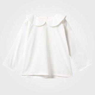 【AS WE GROW】 アズ ウィ グロウ/ピーターパンカラーシャツ/ホワイト