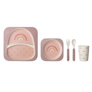 【Bloomingville】ブルーミングヴィル/レインボー食器セット ピンク