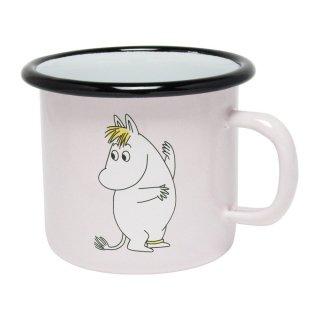 【ムーミン / muurlaムールラ】ホーローマグカップ(フローレンピンク)
