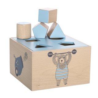 【Bloomingville】ブルーミングヴィル/木製型はめブロック(積み木)ブルー