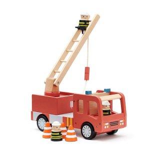 【Kids Concept】 キッズコンセプト/木製消防車セット