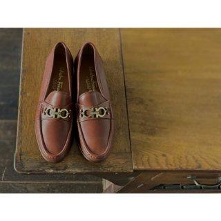 S.Ferragamo.LOAFERS.brown.7 1/2