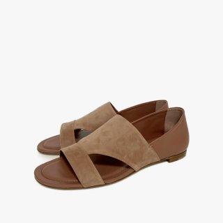 TODS.sandal.pinkgray.37 1/2