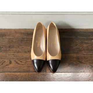 CHANEL.bicolorshoes.beige.37 1/2