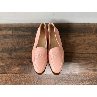 CHANEL.loafers.pink.36 1/2