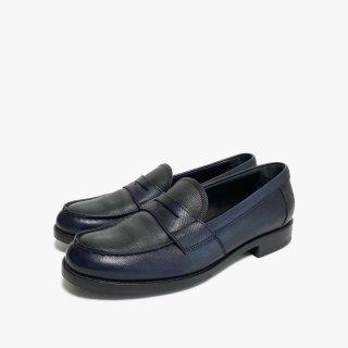 PRADA.loafers.navy×green.37