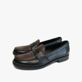 PRADA.loafers.black×brown.37