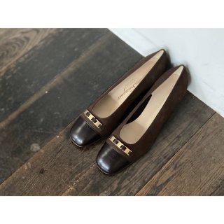 S.Ferragamo.pumps.brown 6 1/2