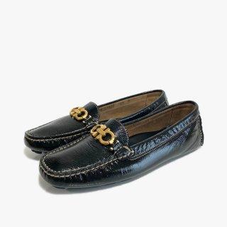 S.Ferragamo.drivingshoes.black 5 1/2