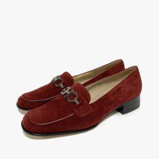 S.Ferragamo.loafers.red 5 1/2