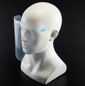 メガネ型フェイスシールド 飛沫防止 メガネの上からでも装着可 10セット