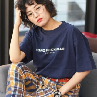 YOKO FUCHIGAMI 公式ファッショナブルTシャツ サンマカラーver.