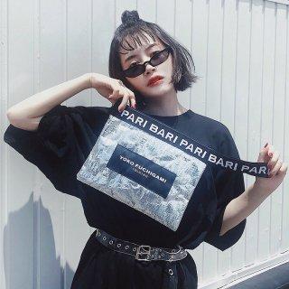 YOKO FUCHIGAMIシルバークラッチバッグ